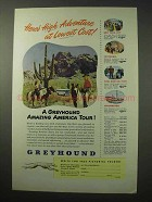 1950 Greyhound Bus Ad - High Adventure at Lowest Cost