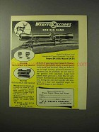 1950 Weaver Model K4 Weaver-Scope Ad - For Big Game