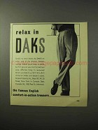 1950 Daks Trousers Ad - Relax in Daks