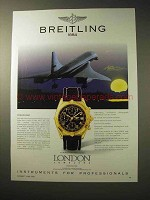 1996 Breitling Chronomat Watch Ad