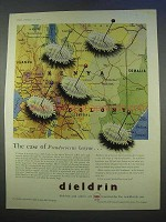 1955 Shell Dieldrin Ad - Case of Pseudococcus Kenyae