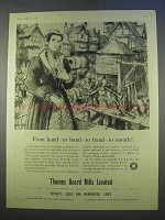 1955 Thames Board Mills Limited Ad - From Hand To Mouth