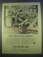 1955 Thames Board Mills Limited Ad - Spun Glass