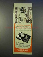 1955 Marcovitch Black and White Cigarettes Ad - Royal