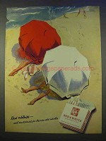 1955 Marcovitch Red & White Cigarettes Ad - Cool