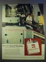 1955 Marcovitch Red & White Cigarettes Ad - Air-Floated