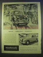 1955 Sunbeam 2 1/4 litre Sports Saloon Car Ad - Speed