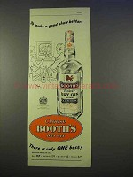 1955 Booth's Dry Gin Ad - To Make A Good Show Better