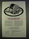1955 A.B. Dick Model 437 Mimeograph Ad - Breaks Rules