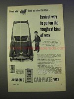 1955 Johnson's Car-Plate Wax Ad - Easiest To Put On
