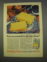 1955 Kraft Cracker Barrel Cheese Natural Cheddar Ad - Yearned