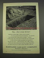 1955 Maryland Casualty Company Ad - Dig Crazy Driver