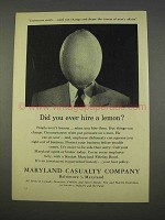 1955 Maryland Casualty Company Ad - Ever Hire a Lemon