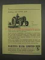 1955 Martins Bank Limited Ad - Banking and Your Job
