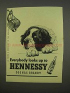 1955 Hennessy Cognac Ad - Everybody Looks Up To