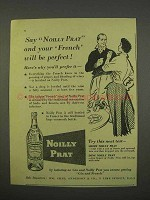 1955 Noilly Prat Vermouth Ad - French Will Be Perfect