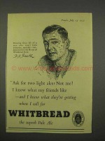 1955 Whitbread Pale Ale Ad - Ask for Two Light Ales?