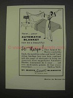 1955 St. Marys Automatic Blanket Ad