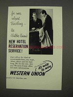 1955 Western Union Ad - Hotel Reservation Service