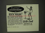 1955 Battle Creek Health Builder Ad - Vibratory Massage