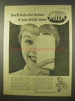 1954 Milk Ad - You'll Feel Better if You Drink More