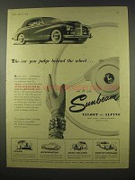 1954 Sunbeam Talbot Car Ad - Judge Behind The Wheel