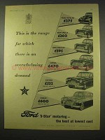 1954 Ford Car Ad - Popular, Anglia, Prefect, Consul
