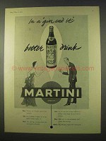 1954 Martini Vermouth Ad - A Better Drink