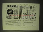 1954 Louisiana Tourism Ad - Invites You To Mardi Gras