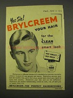 1954 Brylcreem Hairdressing Ad - The Clean Smart Look