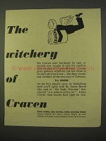 1954 Craven Tobacco Ad - The Witchery of Craven