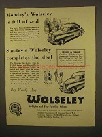 1954 Wolseley Six-Eighty Car Ad - Is Full of Zeal