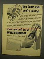 1954 Whitbread Ale Ad - You Know What You're Getting
