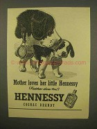 1954 Hennessy Cognac Ad - Mother Loves