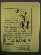 1954 Rose's Lime Juice Ad - Finish the Job in No Time