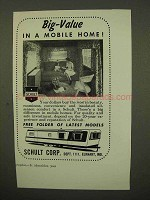 1954 Schult Mobile Home Ad - Big-Value