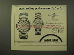 1982 Torneau Baume & Mercier Riviera Watch Ad
