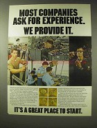 1979 U.S. Military Ad - Experience We Provide It