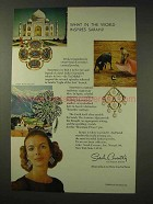1968 Sarah Coventry Jewelry Ad - Senorita Earrings +