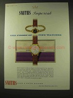 1959 Smiths Imperial Watch Ad - The Finest of Fine