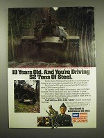 1984 Army National Guard Ad - Driving 52 Tons of Steel