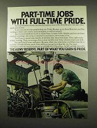 1978 Army Reserve Ad - Part-Time Jobs Full-Time Pride