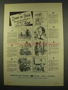 1949 American Can Company Ad - Story of Food - Fish