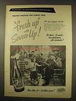 1949 7-Up Soda Ad - Fresh-Up with Seven-Up