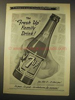 1949 7-Up Soda Ad - The Fresh Up Family Drink