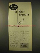 1949 Association of American Railroads Ad - Music