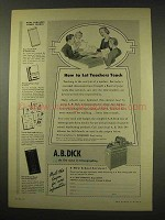1949 A.B. Dick Mimeograph Ad - Let Teachers Teach
