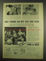 1949 Ipana Toothpaste Ad - Help Save Their Teeth