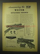 1949 Weaver Detachable Mounts Ad - K4 Scope, K2.5 Scope