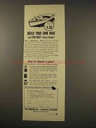 1949 Borden Co. Chemical Division Cascophen Glue Ad - Build Boat